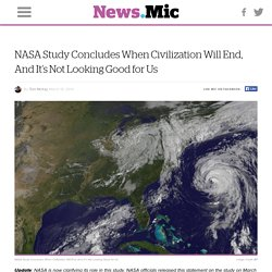 NASA Study Concludes When Civilization Will End, And It's Not Looking Good for Us