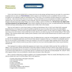 Concluding Paragraphs