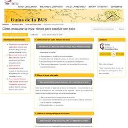 Cómo encauzar la tesis (U Sevilla)