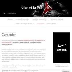 Conclusion – Nike et la Publicité