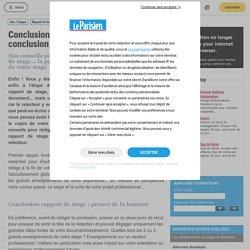 Conclusion rapport de stage : rédiger une conclusion percutante pour votre rapport - Rapport de Stage