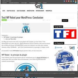 Test de WP Robot pour Wordpress: Conclusion après utilisation