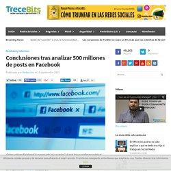 Conclusiones tras analizar 500 millones de posts en Facebook