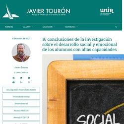 16 conclusiones de la investigación sobre el desarrollo social y emocional de los alumnos con altas capacidades