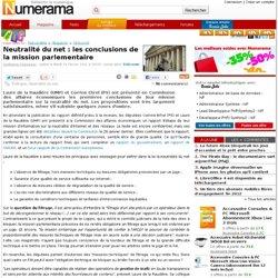 Neutralité du net : les conclusions de la mission parlementaire