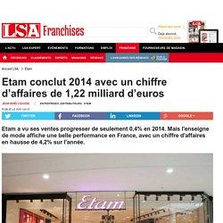 Etam conclut 2014 avec un chiffre d'affaires... - Textile, habillement