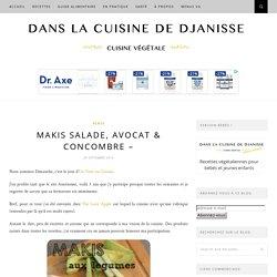 Makis salade, avocat, concombre & fromage {cuisine végétalienne}