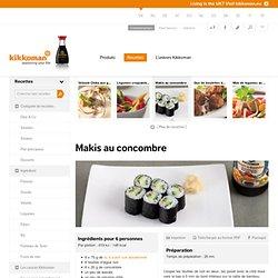 Makis au concombre : Kikkoman France