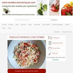 Taboulé express concombre