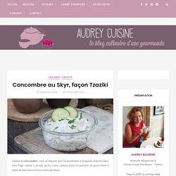 Concombre au Skyr, façon Tzaziki