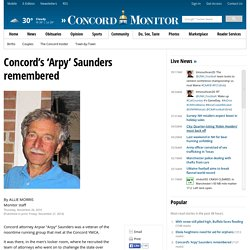 Concord's 'Arpy' Saunders remembered