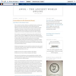 AWOL - The Ancient World Online: Concordance to the Homeric Poems