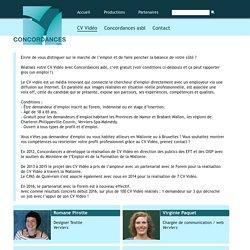 Concordances asbl - Tous les CV Vidéo !