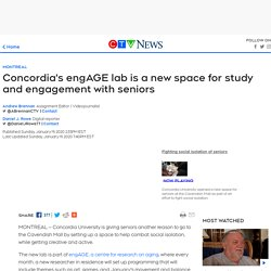 Concordia's engAGE lab is a new space for study and engagement with seniors