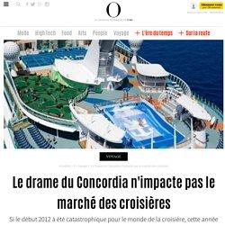 Le drame du Concordia n'impacte pas le marché des croisières - 12 janvier 2013