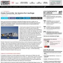 2° Costa Concordia, les leçons d'un naufrage