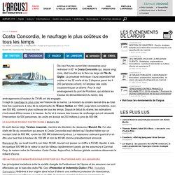 1° Costa Concordia, le naufrage le plus coûteux de tous les temps