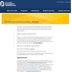 Concordia University of Edmonton, Writing Centre