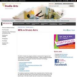 MFA in Studio Arts - Studio Arts - Concordia University - Montreal, Quebec, Canada