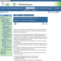 """Concours académique """"Maths en Zik"""""""