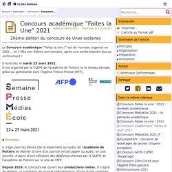 """Concours académique """"Faites la Une"""" 2017- CLEMI"""
