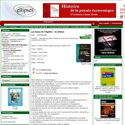 Les bases de l'algèbre - 2e édition - Concours administratifs