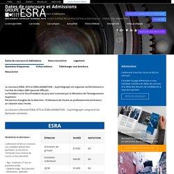Dates de concours et Admissions - Groupe ESRA