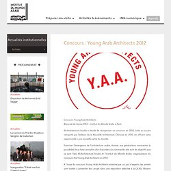 Concours : young arab architects 2012