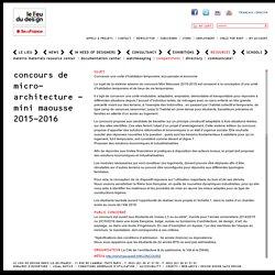 Concours de micro-architecture - Mini Maousse 2015-2016