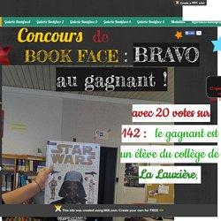 Concours de Book Face. Page d'accueil.