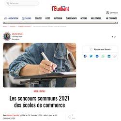 Les concours communs 2021 des écoles de commerce - L'Etudiant