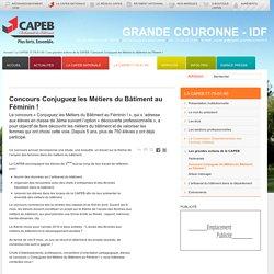 CAPEB : Concours Conjuguez les Métiers du Bâtiment au Féminin !