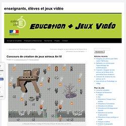 Concours de création de jeux sérieux An VI