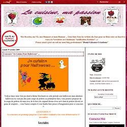 """Concours """"Je Cuisine Pour Halloween"""" ... - La cuisine, ma passion"""
