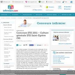 Concours IFSI 2011 – Culture générale IFSI Saint-Égrève (38)