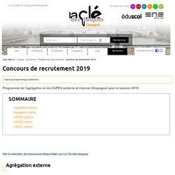 Concours de recrutement 2019 : sélection de ressources