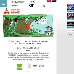 ÉDITION 2017/2018 DU CONCOURS DE LA BANDE DESSINÉE SCOLAIRE