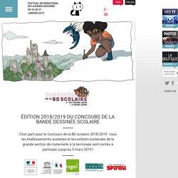 ÉDITION 2018/2019 DU CONCOURS DE LA BANDE DESSINÉE SCOLAIRE