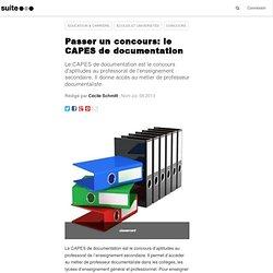 Passer un concours: le CAPES de documentation