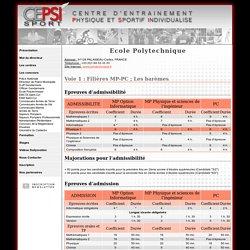 Concours Ecole Polytechnique - CEPSI Sport