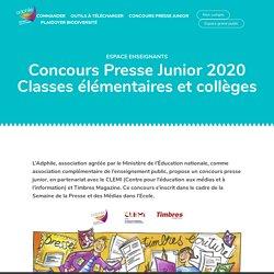 Concours Presse Junior 2020 Classes élémentaires et collèges - Adphile