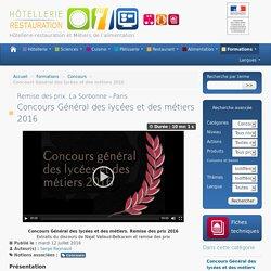 Concours Général des lycées et des métiers 2016
