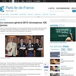 De belles récompenses... pour exemple, 2013, 126 lauréats à La Sorbonne