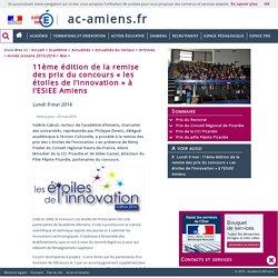 11ème édition de la remise des prix du concours «les étoiles de l'innovation» à l'ESIEE Amiens