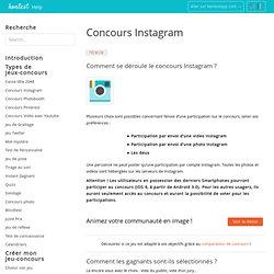 Créer un Concours Instagram