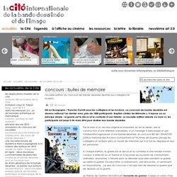 concours : bulles de mémoire - la Cité internationale de la bande dessinée et de l'image