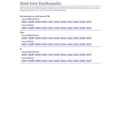 Concours Math'Isère - Calcul mental