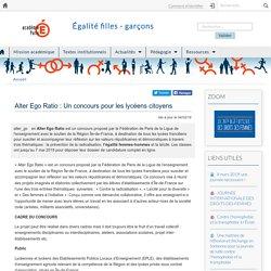 Alter Ego Ratio : Un concours pour les lycéens citoyens