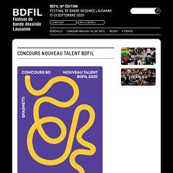 Concours Nouveau Talent BDFIL - BDFIL