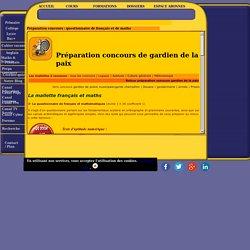 Concours de gardien de la paix : le questionnaire de français et de maths